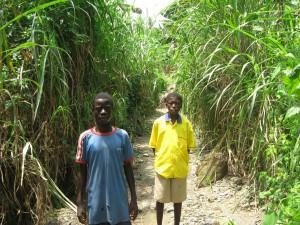 Lake Bosumtwi near Kumasi - our local guide on walking tour