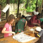 Childrens batik art workshop