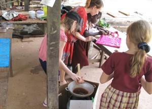 Childrens batik art workshop