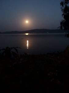 Full moon on Lake Bosumtwi