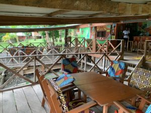 Cocoa Village Guesthouse restuarnt deck with bar
