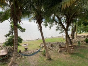 Cocoa Village hammock in front of Lake Bosomtwe beach