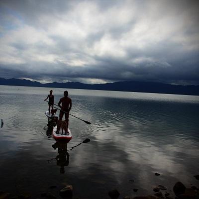 Stand UP paddling on Lake Bosomtwe