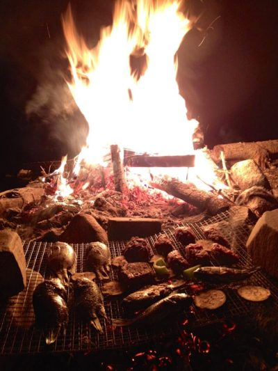 Bonfire and cooking