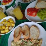 Cocoa Village Guesthouse special breakfast - all fresh ingridients